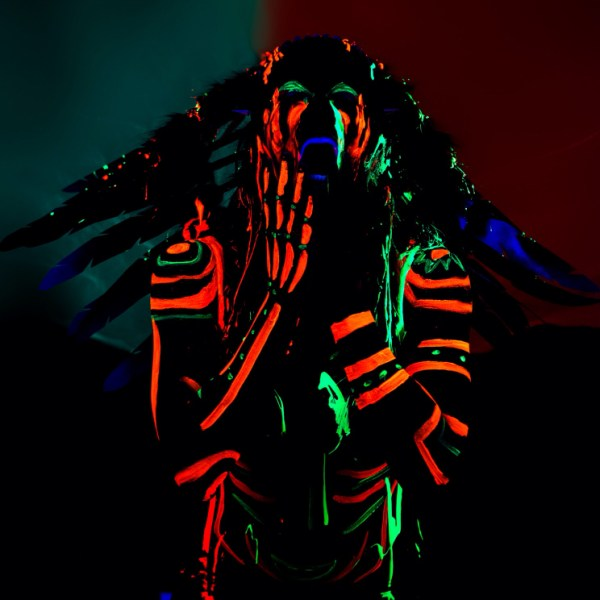 Body Painting - UV Tribal Chief - Krysalis Photography