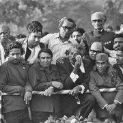 Founding father Bangabandhu Sheikh Mujibur Rahman holding kerchief weeps upon his entrance