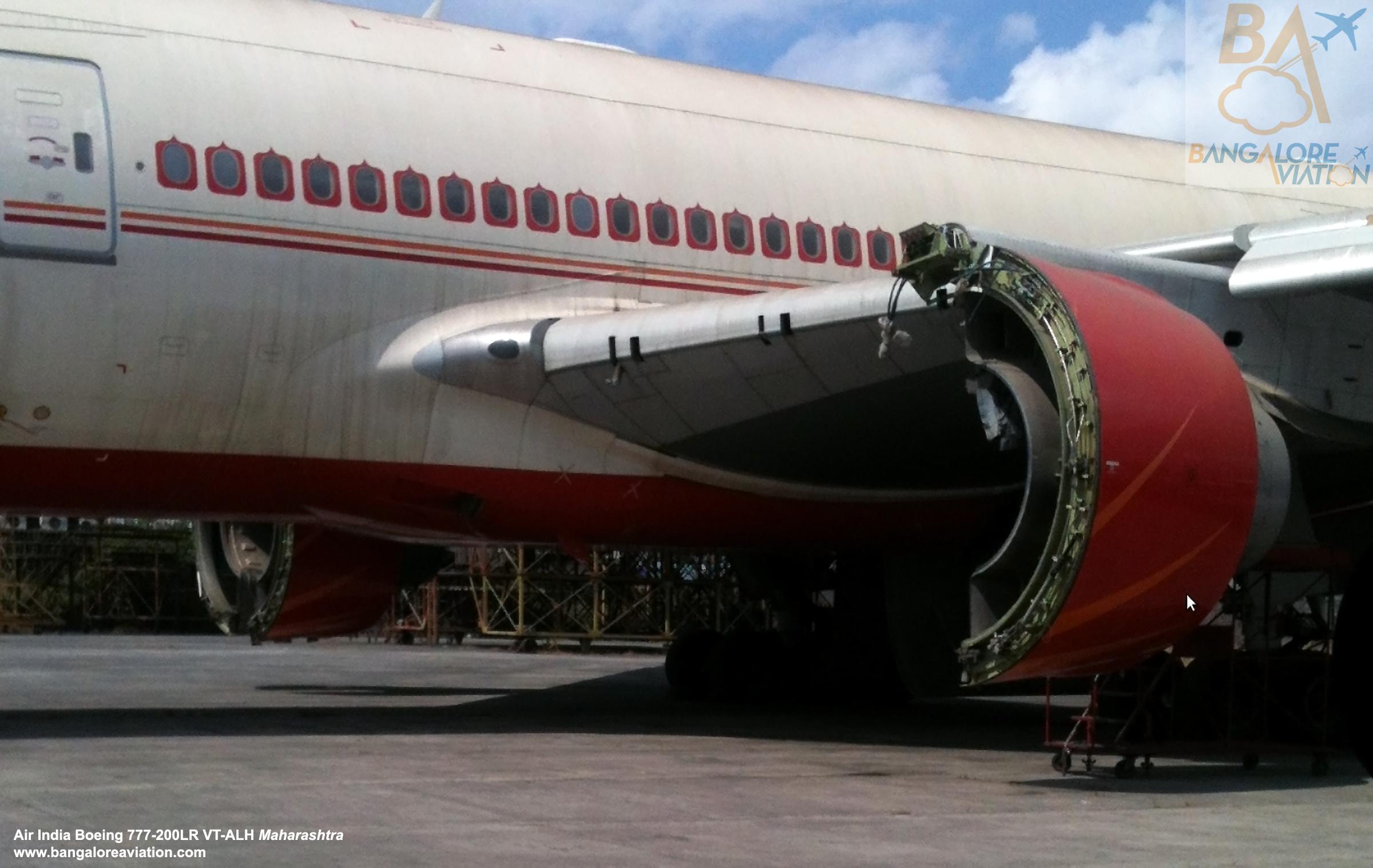 Air India Boeing 777 200LR VT ALH Maharashtra cannibalised at Mumbai's
