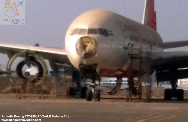 Air India Boeing 777-200LR VT-ALH Maharashtra cannibalised at Mumbai's Chhatrapati Shivaji airport