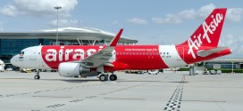 First flight of AirAsia India. Plane after pushback.