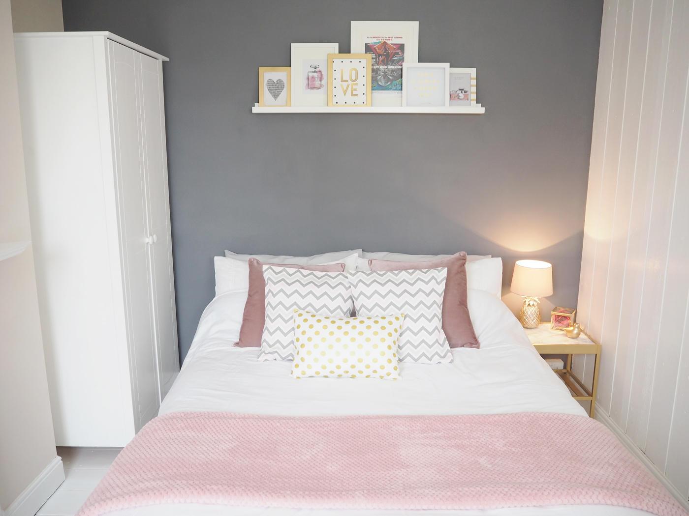 PINK & GREY BEDROOM MAKEOVER