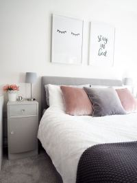 Bedroom Tour   Pink and Grey Bedroom Decor - Bang on Style