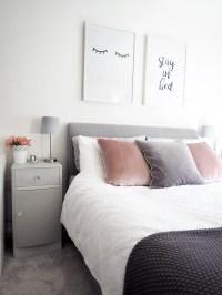 Pink Grey Bedroom - Bedroom Ideas