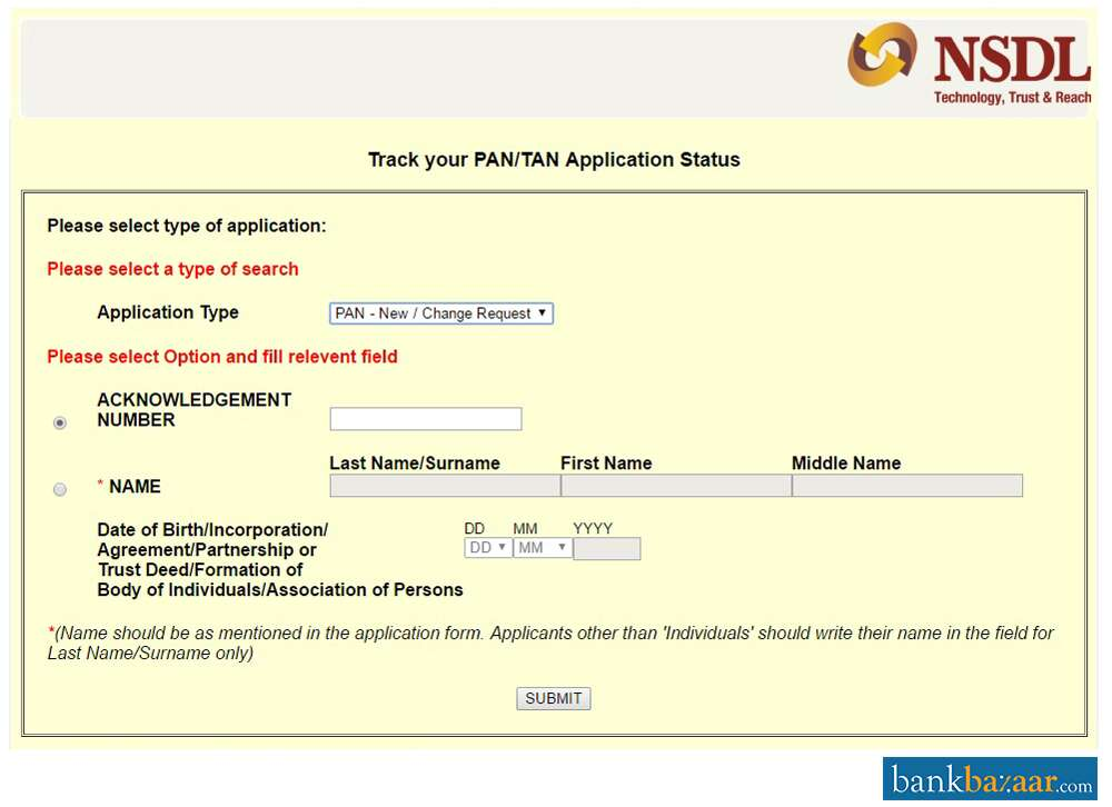 PAN Card Status Online- Track/Check UTI, NSDL Pan Application Status