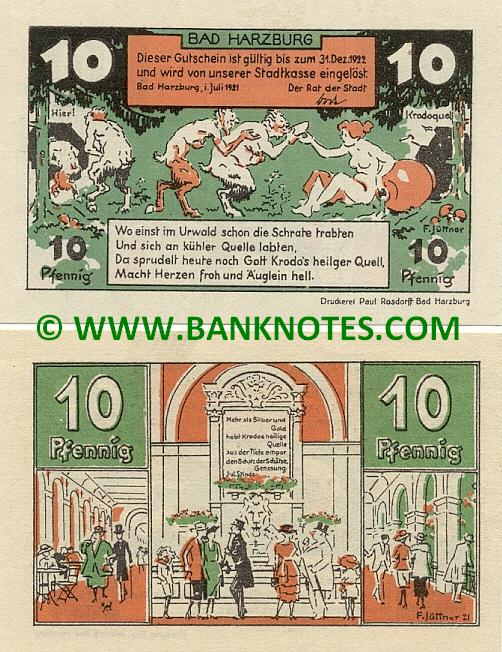 Germany Town Of Bad Harzburg 1922 Notgeld Set   German Currency   Quelle  Badezimmer Set