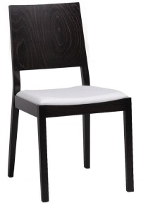 Contemporary Series Square Style Wood Dining Chair w ...