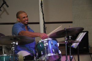 David Carnegie, drummer with The Original Unit