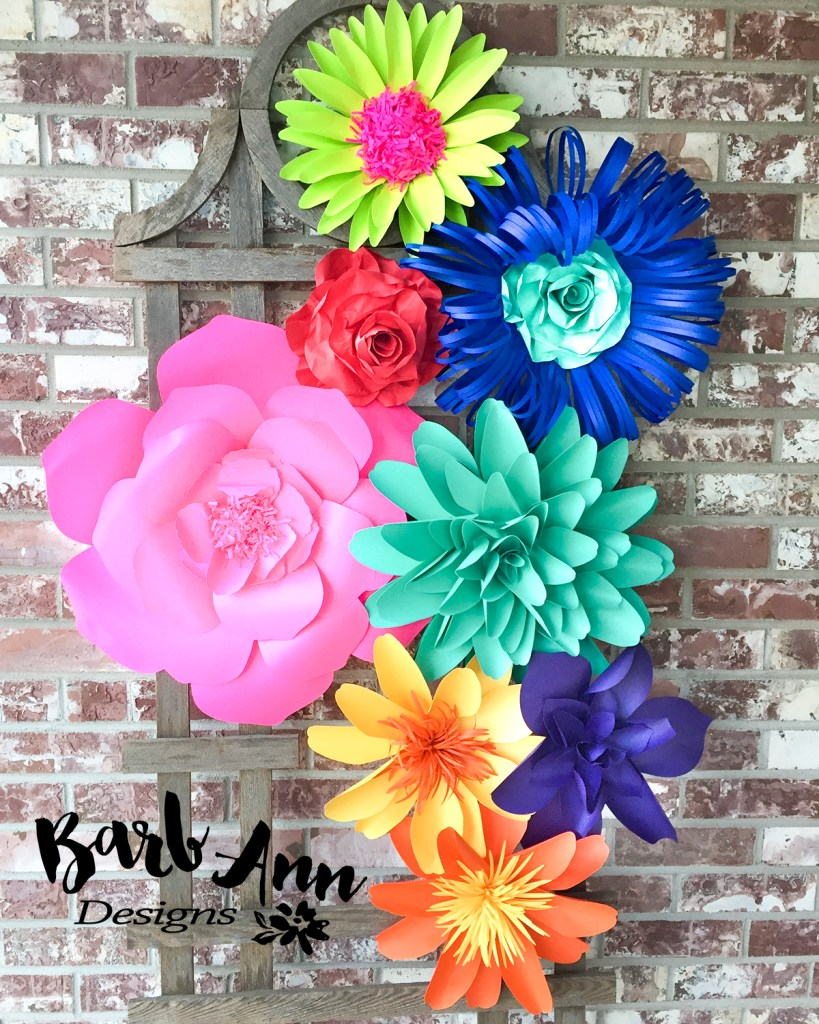 Bright Fiesta Paper Flowers