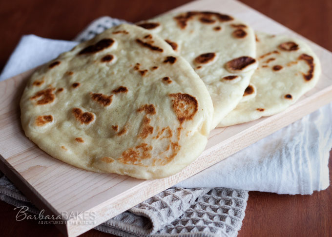 Easy To Make Naan - Indian Flatbread Recipe Barbara Bakes