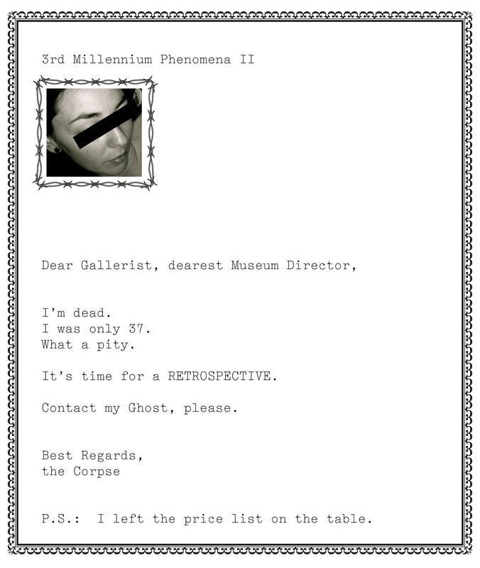 3rd Millennium Phenomena (cover letters) - barbara fragogna the