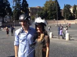 Barbara Lessona Bride and Groom Vespa Tour