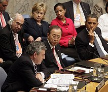 Gordon Brown and Barack Obama in the Security Council