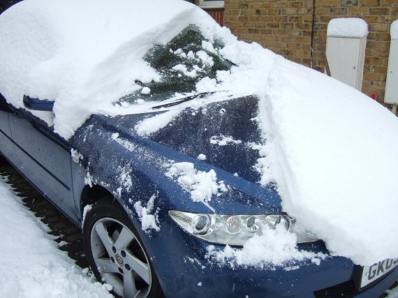Clearing the car
