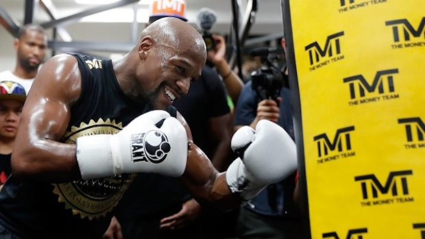 The amount Mayweather will earn on clothing sponsorship, and how