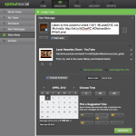 screenshot of one action in sprout social