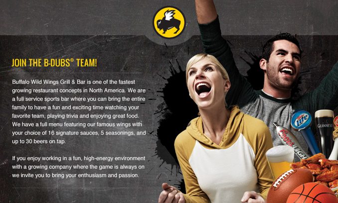 NEW Buffalo Wild Wings -Now Hiring ALL Positions in Hanover, Mass
