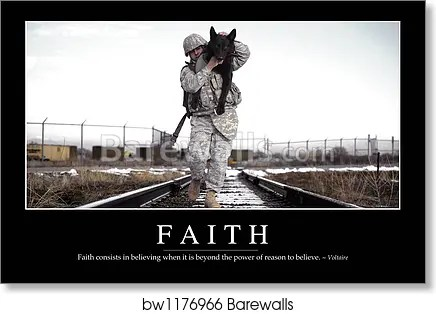 Art Print of Faith Inspirational Quote and Motivational Poster by