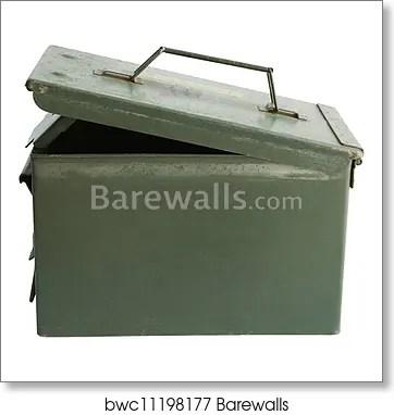 Military bullet box open cover iso, Art Print Barewalls Posters