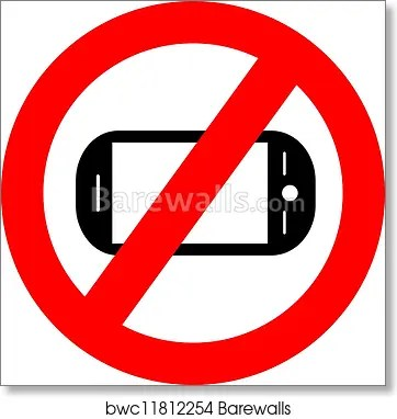No cellphone sign, Art Print Barewalls Posters  Prints bwc11812254