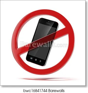 No cell phone sign, Art Print Barewalls Posters  Prints bwc16841744