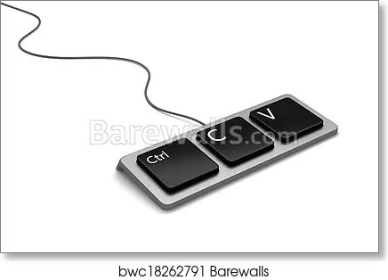 Art Print of Copy paste keyboard Barewalls Posters  Prints - cool copy and paste art