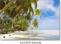 Tropical Beach Scene Art Print/Canvas Print Home Decor ...