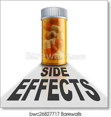 Art Print of Prescription Medication Side Effects Barewalls