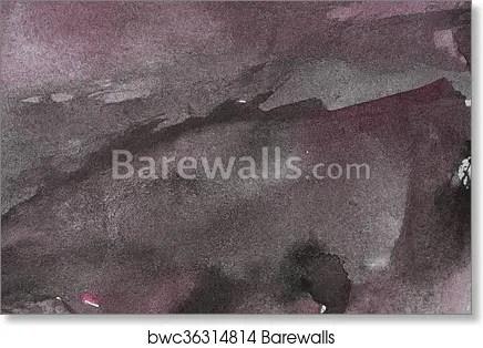 Purple black watercolor background, Art Print Barewalls Posters