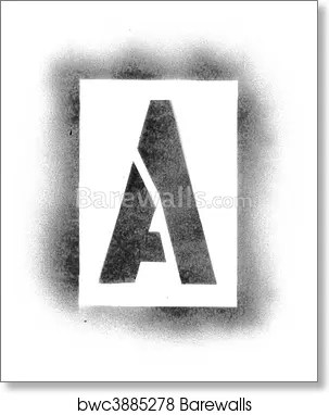 Stencil Letters In Spray Paint Art Print Home Decor Wall Art Poster