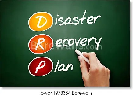 Art Print of Hand drawn DRP - Disaster Recovery Plan Barewalls