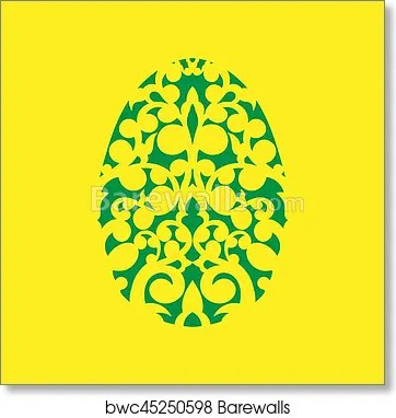 Art Print of Happy Easter Laser cutting template for greeting cards