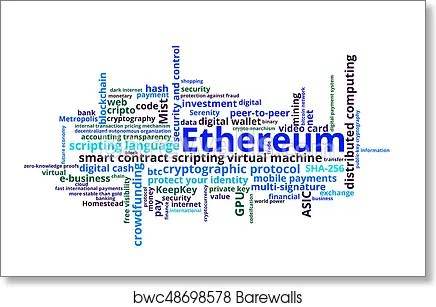 Art Print of Ethereum crypto currency Barewalls Posters  Prints