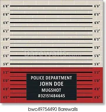 Art Print of Police mugshot template Barewalls Posters  Prints