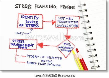 Art Print of Stress management Barewalls Posters  Prints bwc6058060 - stress management chart