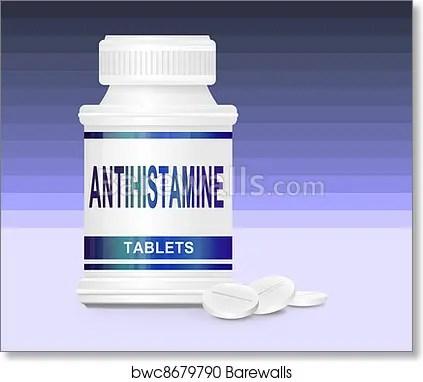 Art Print of Antihistamine medication Barewalls Posters  Prints
