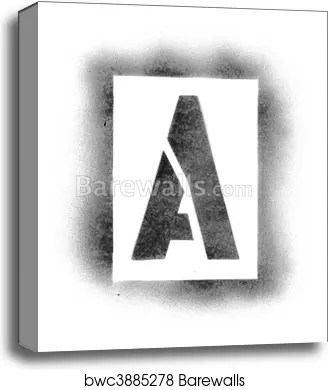 Stencil Letters In Spray Paint Art Print/Canvas Home Decor Wall Art