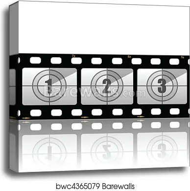 Canvas Print of Film strips Barewalls Posters  Prints bwc4365079