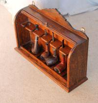 Bargain John's Antiques | Hanging Oak Roll Top Storage ...