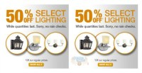 Home Depot Canada: Lighting Clearance Sale Up To 61% Off