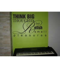 Think big quote wall decal for living room decoration.