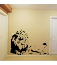 Laying lion wall sticker, tiger wall decal, tiger wall ...