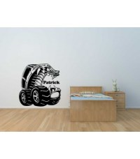 Monster truck wall sticker boys bedroom wall decal