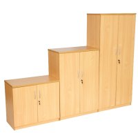 New Double Door Cupboard in Beech or Light Oak | wooden ...