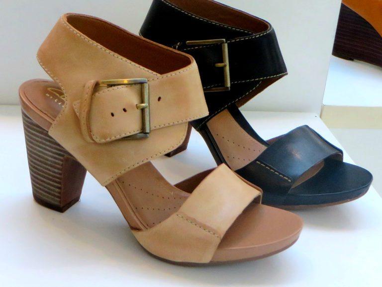 Clark s okena mod sandal high heeled comfort