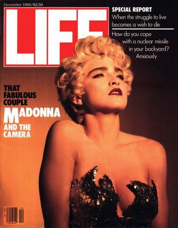 Lucky Star Cute Wallpaper Evolution Of Madonna Magazine Covers 1983 2011 Barnorama