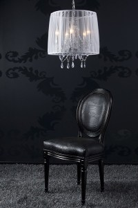 Baroque Pendant lamp with crystal deco, 5-burner gas ...