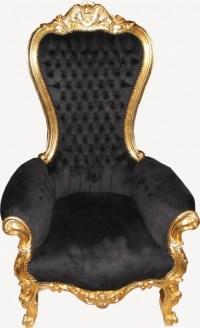 Casa Padrino baroque throne medium Majestic Black / Gold ...