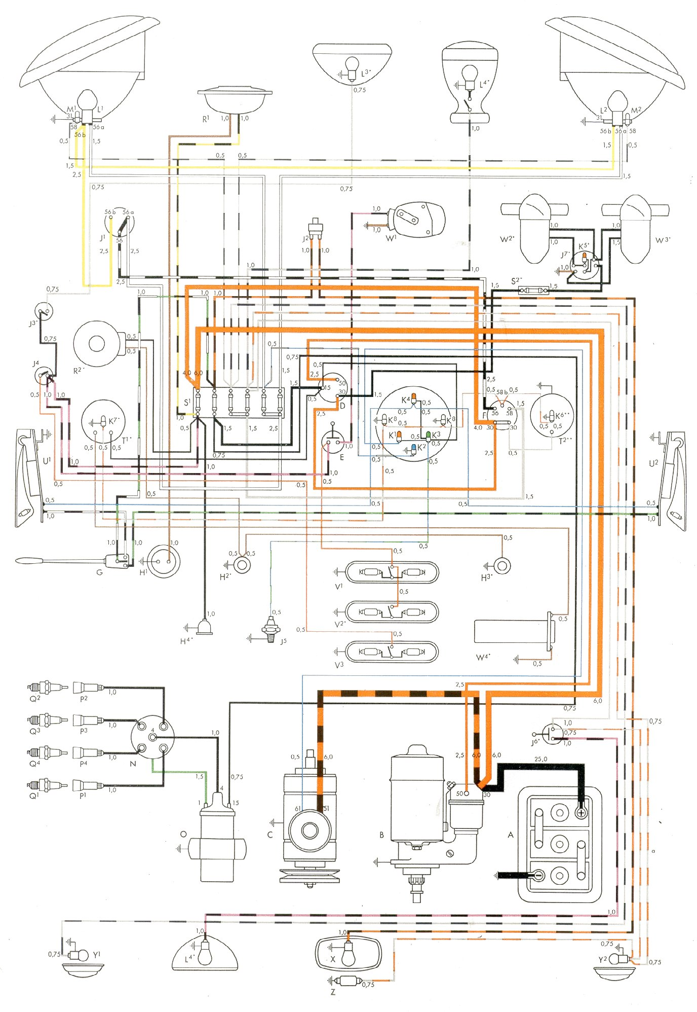bluebird wiring diagrams light