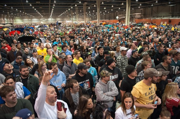 standing room only for the bikini contest at Motorama 2012 Pennsylvania Farm Show Complex, Harrisburg, PA